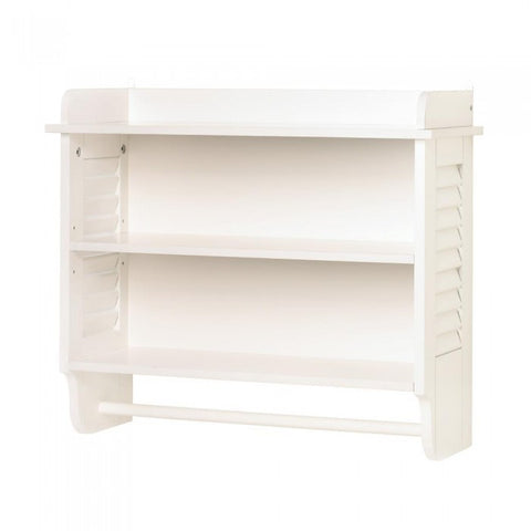 Accent Plus 14706 Nantucket Bathroom Wall Shelf - livezippy