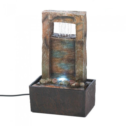 Cascading Fountains 10016894 Cascading Water Tabletop Fountain - livezippy