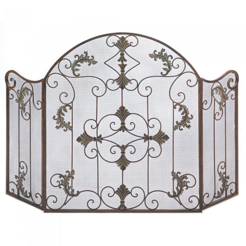 Accent Plus 13773 Florentine Fireplace Screen - livezippy
