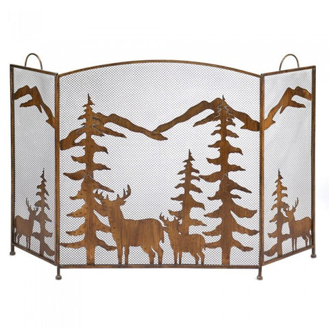Accent Plus 12295 Rustic Forest Fireplace Screen