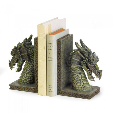 Dragon Crest 37978 Fierce Dragon Bookends - livezippy