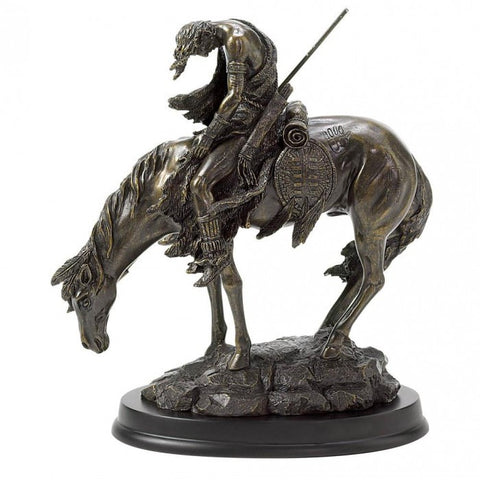 "Accent Plus 31044 ""The End Of The Trail"" Statue - livezippy"