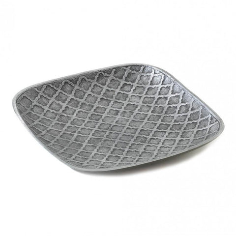 Accent Plus 10017362 Trellis Stamped Square Dish