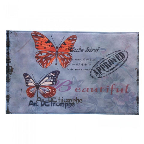 Accent Plus 10017139 Artistic Butterfly Floor Mat