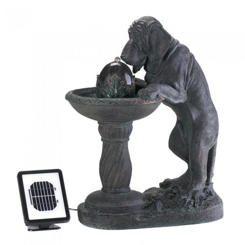 Cascading Fountains 14769 Thirsty Dog Solar Fountain - livezippy