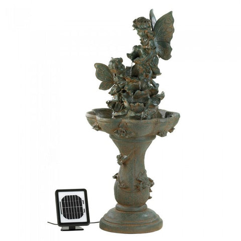Cascading Fountains 12842 Fairy Solar Water Fountain - livezippy