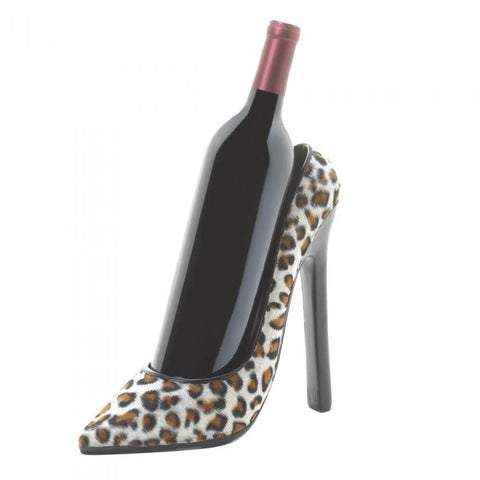 Accent Plus 10016189 Leopard Shoe Wine Holder