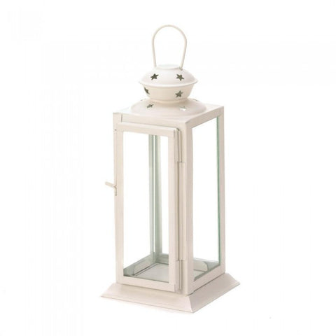 Gallery of Light 10015419 Starlight White Candle Lantern - livezippy