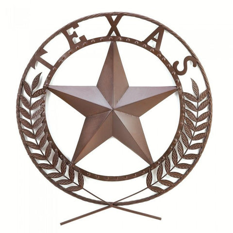 Accent Plus 38595 Texas Star Wall Plaque - livezippy