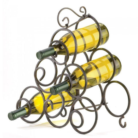 Accent Plus 32405 Scrollwork Wine Rack - livezippy