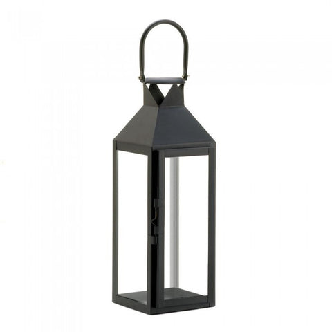 Gallery of Light 10015428 Black Manhattan Candle Lantern - livezippy