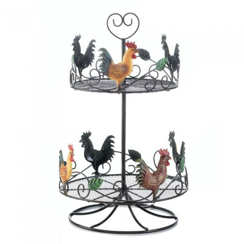 Accent Plus 10017558 Rooster 2 Tier Countertop Rack
