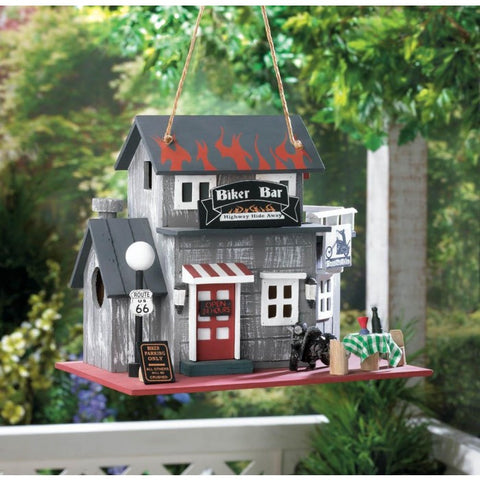 Songbird Valley 10016849 Biker Bar Birdhouse