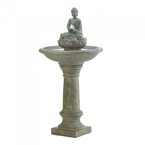 Cascading Fountains 10017966 Buddha Pedestal Water Fountain - livezippy
