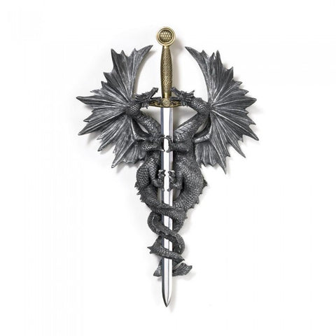 Dragon Crest 36247 Dragon Dagger Wall Plaque - livezippy