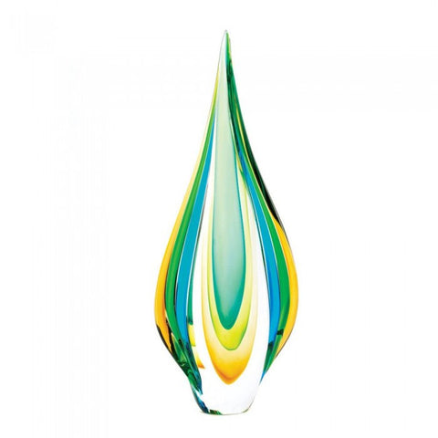 Accent Plus 10015486 Cool Flame Art Glass Statue