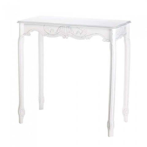 Accent Plus 15216 White Scalloped Hall Table