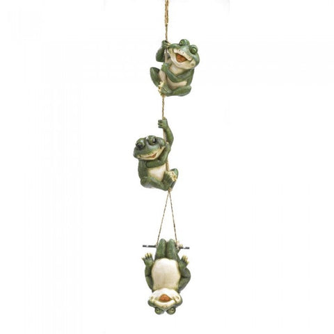 Summerfield Terrace 38813 Frolicking Frogs Hanging Decoration