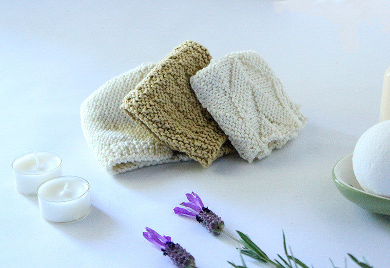 "Need Some ""You"" Time?  Knit Our New Washcloths To Make Bathtime Special"