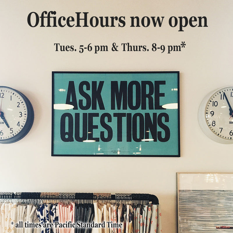 Announcing Office Hours!