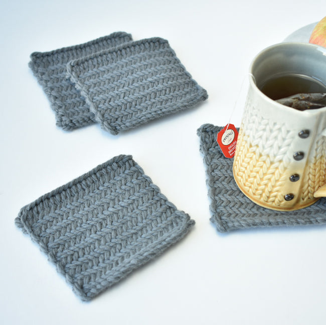 Learning the Herringbone Stitch and Making Coasters!