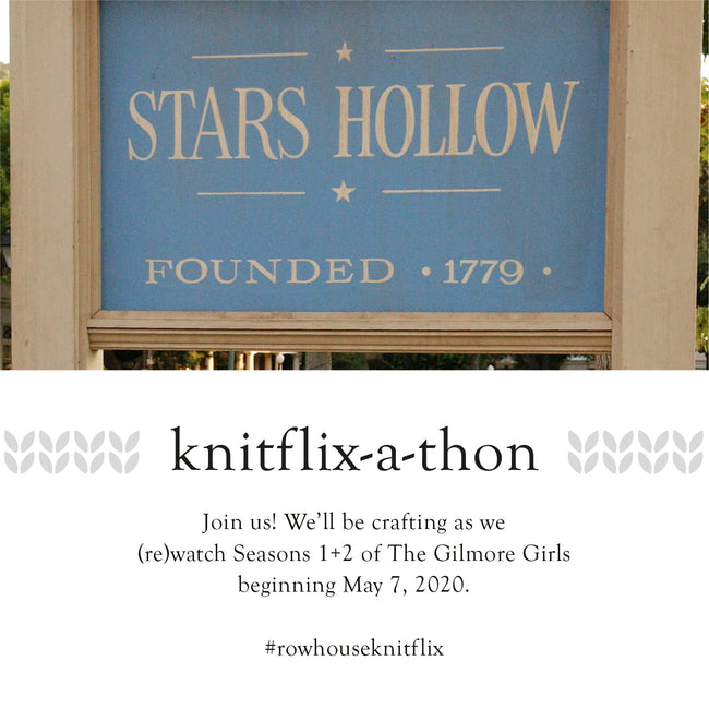 Giveaway Closed & Winner Announced! - Join Us for our Knitflix-A-Thon: Gilmore Girls -