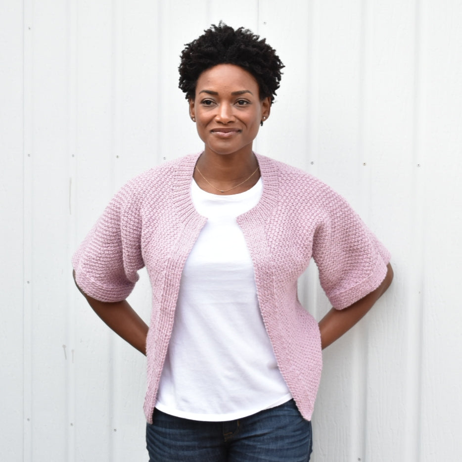 Edge-to-Edge Stitch Cardigan