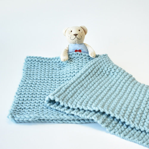 Garter Stitch Baby Blanket/Pet Bed