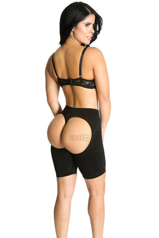 Shapextreme Long Butt Lifting Boy Shorts Curve Hip Control Sexy comfy Instant Makeover Black Kit of 2 pcs