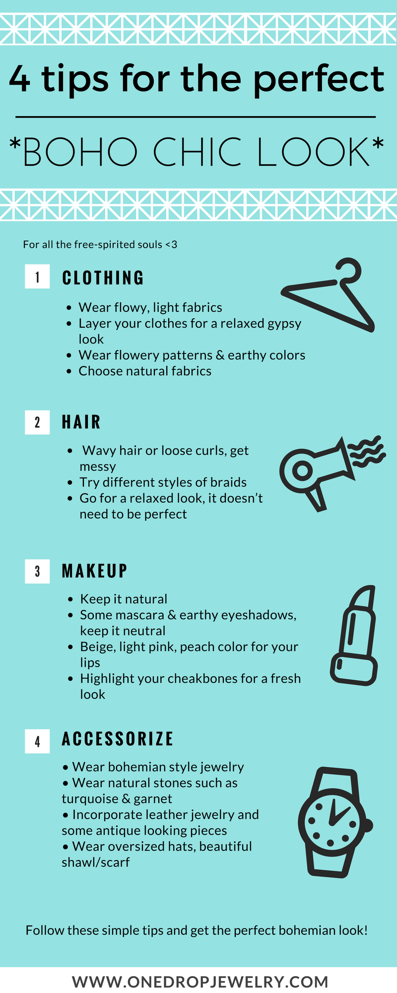 infographic how to have the boho look