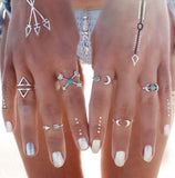 bohemian style jewelry 6 pieces rings set