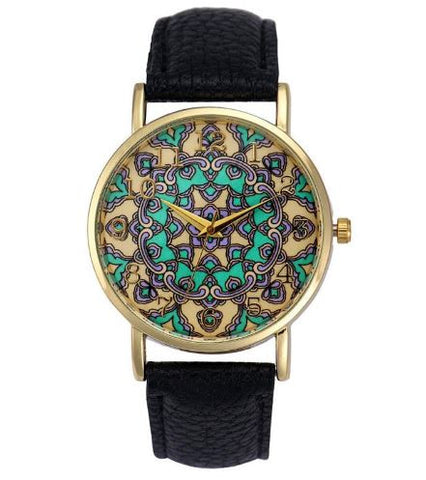 bohemian watch mosaic black