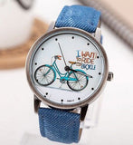 I want to ride my bicycle watch blue