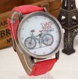 I want to ride my bicycle watch red
