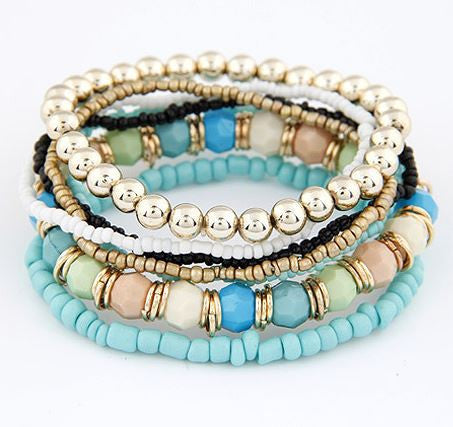 bohemian style jewelry bracelet bead beach jewelry blue