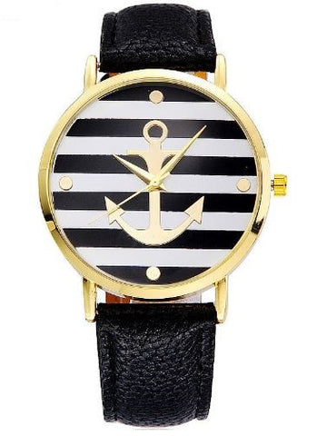 anchor watch sailor black
