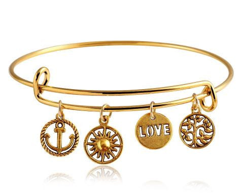 love bohemian gypsy gold bangle