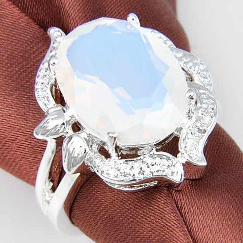 bohemian moonstone ring moon