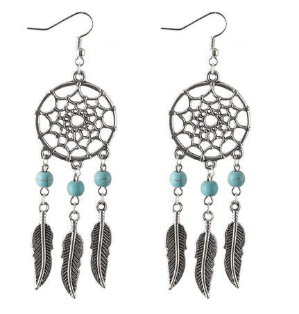 bohemian style jewelry dreamcatcher earrings