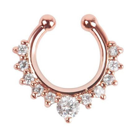 bohemian jewelry nose ring fake piercing rose gold