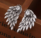 bohemians style jewelry earrings angel wings antique