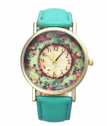 bohemian watch flower garden turquoise
