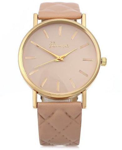 casual watch pink
