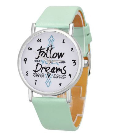 follow your dreams watch mint