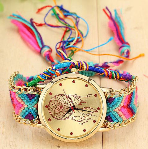 bohemian hand braided dreamcatcher watch