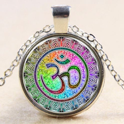 spiritual jewelry om aum symbol pendant necklace