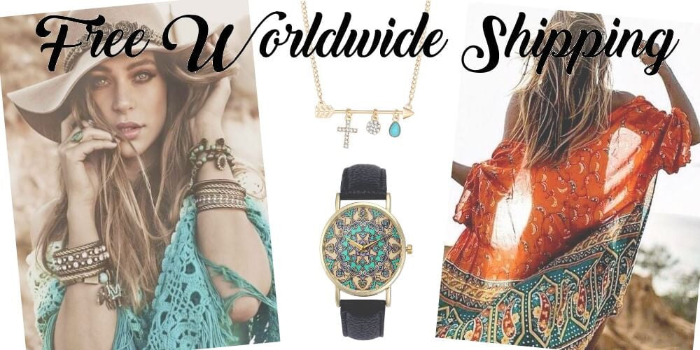 bohemian jewelry free worldwide shipping