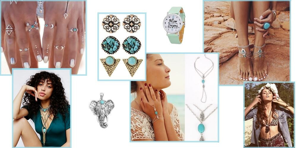 bohemian jewelry for the bea
