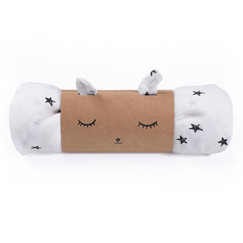 Swaddle - Organic Stars Design