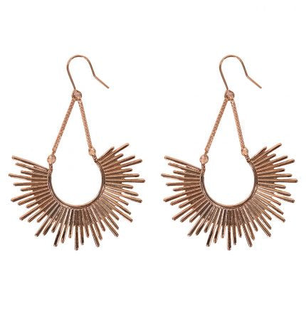 Half Burst Earring - Rose Gold